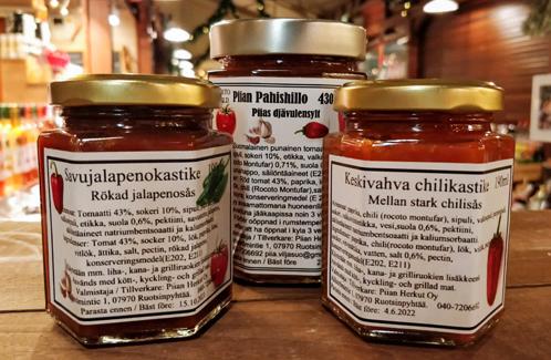 Piian Herkut Shop - Chilikastikkeet